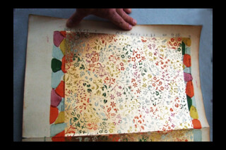 Dutch Gilt antique brocade paper ~ A5 sheets