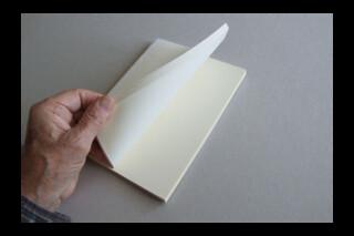Book Block ~ A5P Journal ~ 80 cream plain leaves ~ 160pp ~ 90gsm