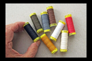 Gütermann linen thread ~ 50m spools ~ eight colours