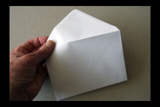 C6 white greetings card envelope
