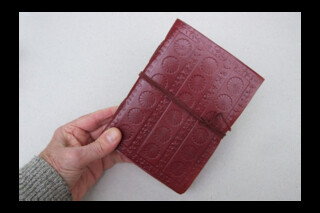 Leather covered journal ~ handmade in India