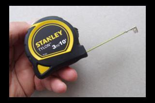 Flexible steel measuring tape, 3m, by Stanley