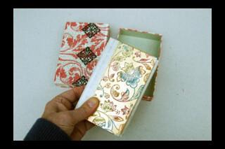 Hand made dos-à-Dos book ~ Dutch Gilt covers ~ vellum corners and spine