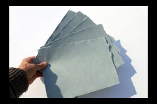Khadi handmade rag paper ~ 150gsm ~ A4 sheets  ~ grey
