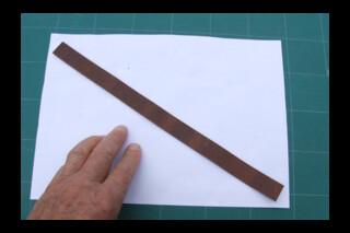 2 x 20 x  320mm leather strips