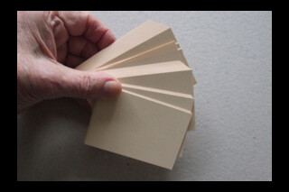 Wye flash cards 160gsm 90x59mm cream